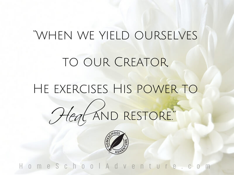 He has the power to heal and restore