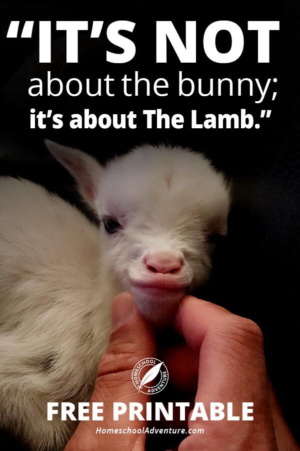 Easter Lamb Printable